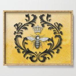 Damask Bee Serving Tray