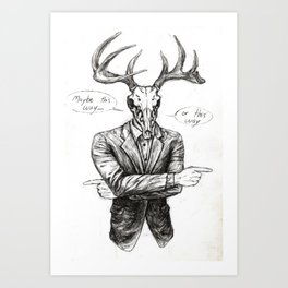 Deer Man Art Print