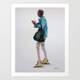 The Bag and the Kicks Art Print