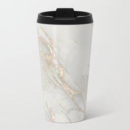 Marble Love Bronze Metallic Metal Travel Mug