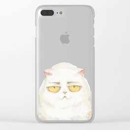 sad cat..) Clear iPhone Case