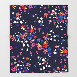 star floral Throw Blanket