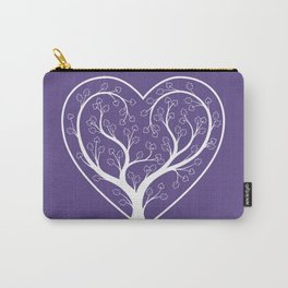 Ultraviolet Love Grows, heart shaped tree Carry-All Pouch