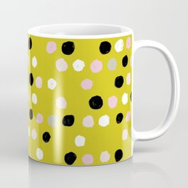 Scatter Dots in Mustard Mix Coffee Mug