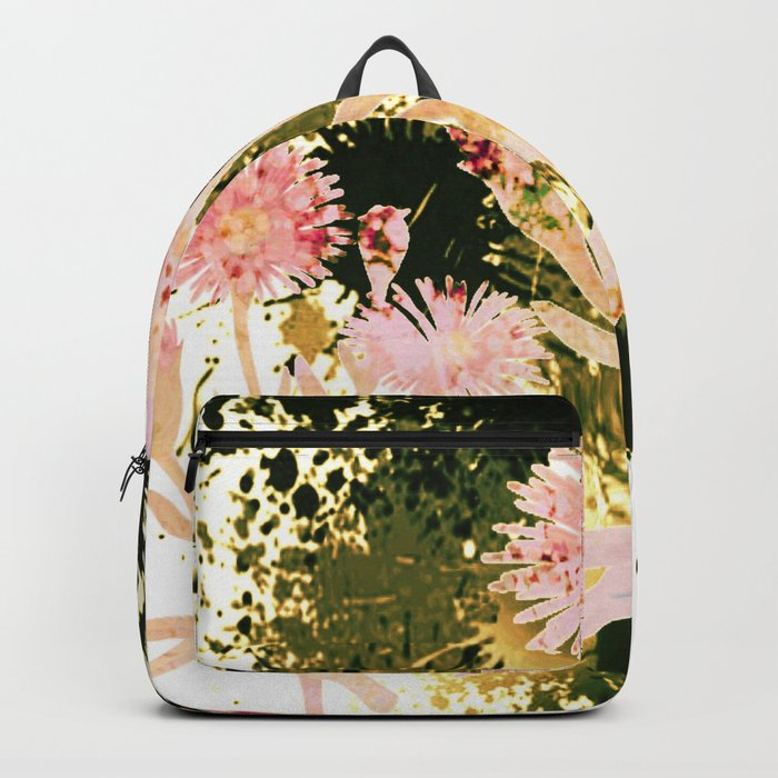 flowers and splash Backpack