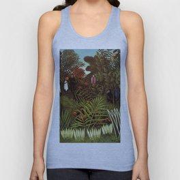 """Henri Rousseau """"Exotic landscape"""", 1908 Unisex Tank Top"""