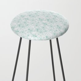 Floral Freeze White Counter Stool