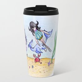If you could breathe underwater... Travel Mug
