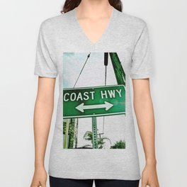 Abstract Coast HWY Unisex V-Neck
