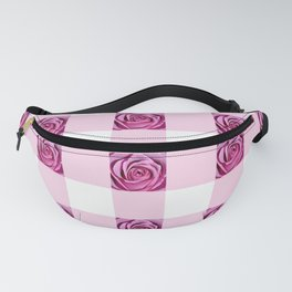 Pink Rose Check Fanny Pack