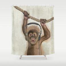 Baby monkey Shower Curtain