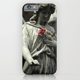 Angel with a rose iPhone Case