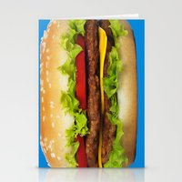 burger Stationery Cards featuring burger by Shanna Dunn