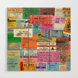 I miss concerts - ticket stubs Wood Wall Art