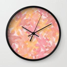 September Leaves Wall Clock