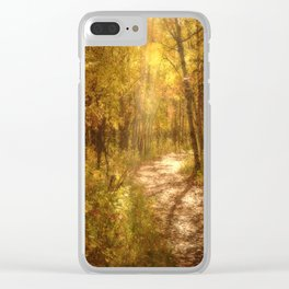 The Colors of Fall Clear iPhone Case