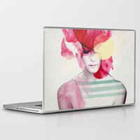yellow Laptop & iPad Skins featuring Bright Pink - Part 2  by Jenny Liz Rome