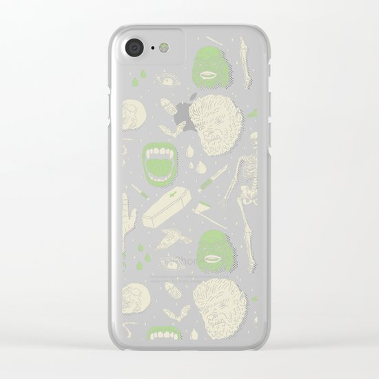 Whole Lotta Horror: BLK ed. Clear iPhone Case