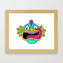 Monster Dragon Face Framed Art Print