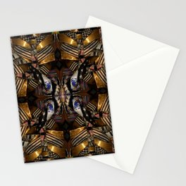 343 navy gold white pattern Stationery Cards