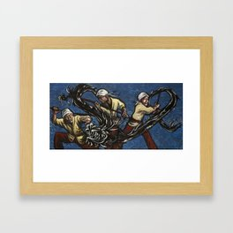 the year of the dragon Framed Art Print