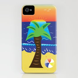 Palm Tree Beach by Noah Kellman iPhone Case