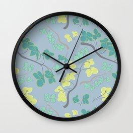 Flowering Flower Stems Wall Clock