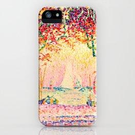 Paul Signac - Les Allées, Cannes - Colorful Vintage Fine Art iPhone Case