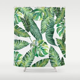 Jungle Leaves, Banana, Monstera #society6 Shower Curtain