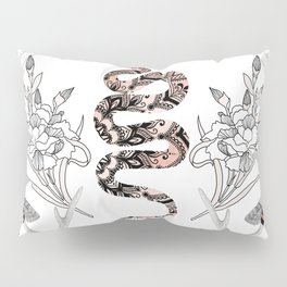 Rose Gold Snake Pillow Sham
