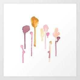 Diversity Watercolor Painting Art Print