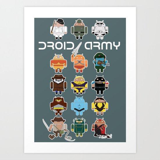 DroidArmy: Maclac Squadron Art Print