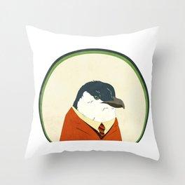 Little Blue Penguin Throw Pillow