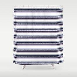 Hipster fairisle modern pixel art fair isle pattern geometric print Shower Curtain