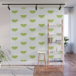 Lime Wedge Print and Pattern Wall Mural