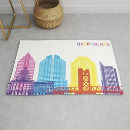 Sacramento skyline pop Rug