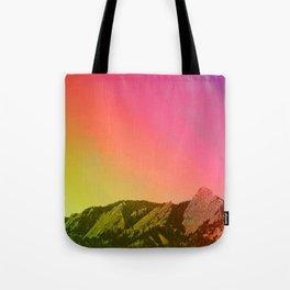 Boulder Colorado Flatirons Decor \\ Chautauqua Park Sunset Red Yellow Photo Nature Bohemian Style Tote Bag