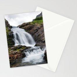 Summer landscape - beautiful mountain waterfall Stationery Cards