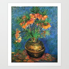 Vincent Van Gogh Frittilaries in Copper Vase 1887 Art Print