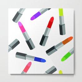 Colored Lipstick Metal Print