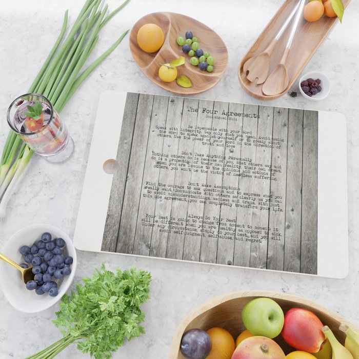 The Four Agreements Cutting Board