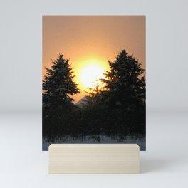 Sunset Over Pines Mini Art Print
