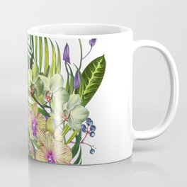 Bouquet, Orchid, Bud, Leaf Clipart, watercolor, handpainted, floral, flower, design, style, troical Coffee Mug