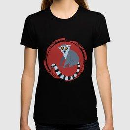 Lemur Colorful Red T-shirt