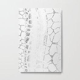 White Snake Skin Metal Print