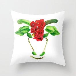 Taurus Roses Throw Pillow