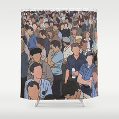 A Face in a Crowd Shower Curtain