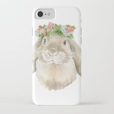 Lop Rabbit Floral Wreath Watercolor Painting Slim Case iPhone 7