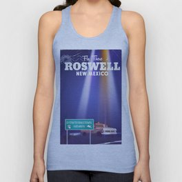 Roswell Extraterrestrial Highway travel poster Unisex Tank Top