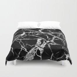 Black marble pattern Duvet Cover